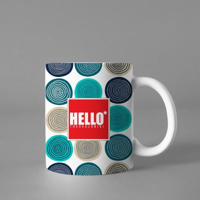 Hello Decorative Colorful Mug, 2019-001