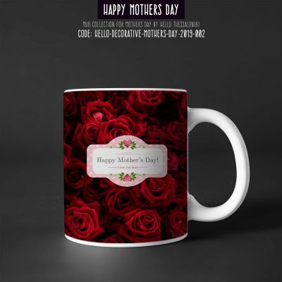 Mother's Day Mug 2019-002, Happy Mother's Day With Red Roses