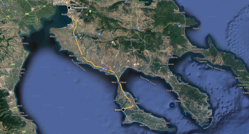 Siviri Halkidiki, map
