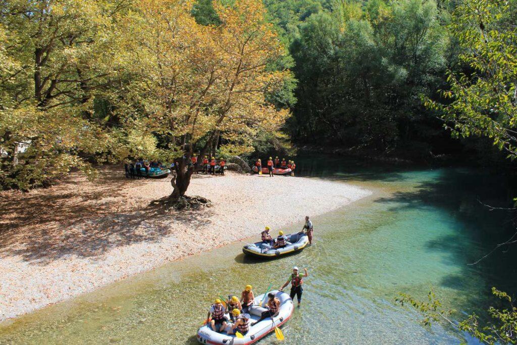 Rafting at Zagori of Ioannina