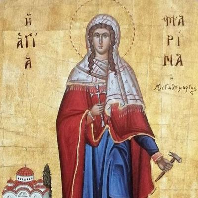 Αγία Μαρίνα, Saint Marina Wooden Orthodox Christian Iconography