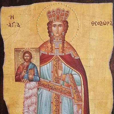 Αγία Θεοδώρα, Saint Theodora Wooden Orthodox Christian Iconography