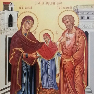 Άγιοι Ιωακείμ και Άννα, Saints Joachim and Anna Wooden Orthodox Christian Iconography