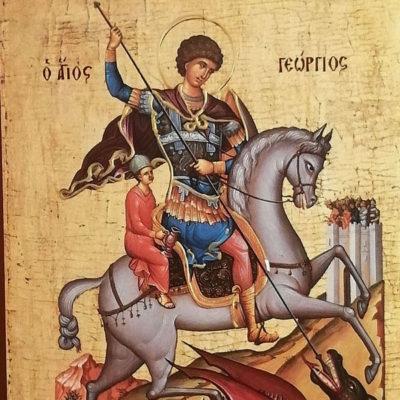 Άγιος Γεώργιος, Saint George Wooden Orthodox Christian Iconography