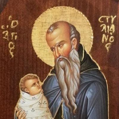 Άγιος Στυλιανός, Saint Stylianos Wooden Orthodox Christian Iconography