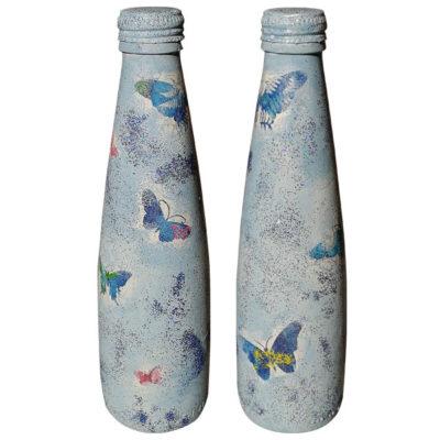 Διακοσμητικό Μπουκάλι Πεταλούδες, Τεχνική Decoupage