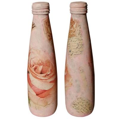 Διακοσμητικό Μπουκάλι Τριαντάφυλλο, Τεχνική Decoupage