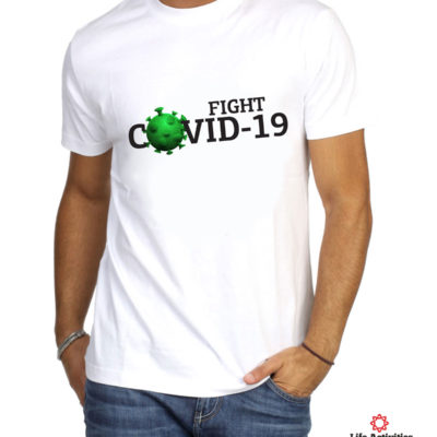 Corona Virus Tshirt, Man White Tshirt, Fight Covid-19