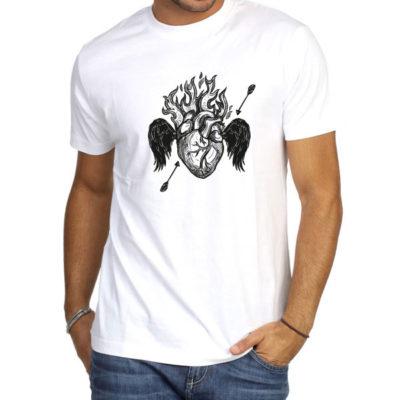 Hello T-Shirt Design 2020-005, Burning Heart