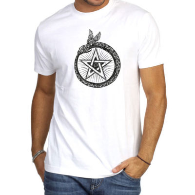 Hello T-Shirt Design 2020-006, Snake and Star Symbol