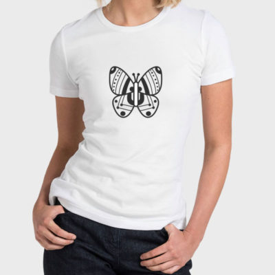 Hello T-Shirt Design 2020-008, Butterfly Symbol