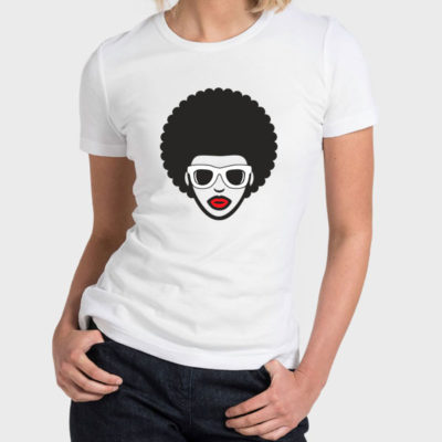 Hello T-Shirt Design 2020-2067, Afro Look Man & Woman