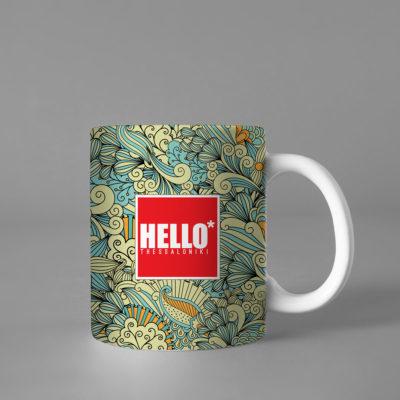Hello Decorative Colorful Mug, 2019-024, Gift for Friend, Gift For Her, Gift for Mom, Gift for Him, Coffee Cup