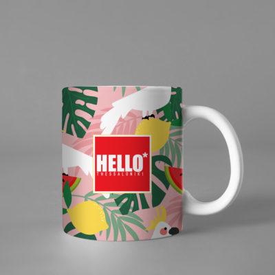 Hello Decorative Colorful Coffee Mug, 2019-026