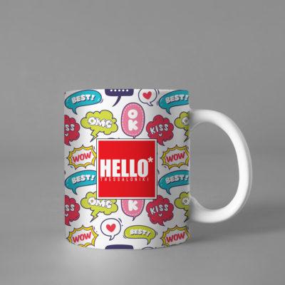 Hello Decorative Colorful Coffee Mug, 2019-027