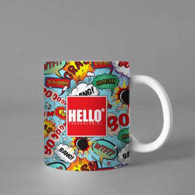 Hello Decorative Colorful Coffee Mug, 2019-028