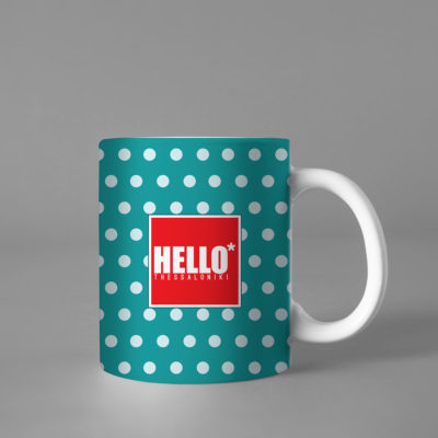 Hello Decorative Colorful Coffee Mug, 2019-029