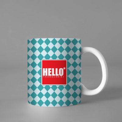 Hello Decorative Colorful Coffee Mug, 2019-030
