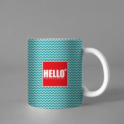Hello Decorative Colorful Coffee Mug, 2019-031