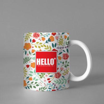 Hello Decorative Colorful Coffee Mug, 2019-032