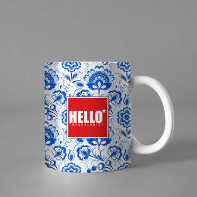 Hello Decorative Colorful Coffee Mug, 2019-034