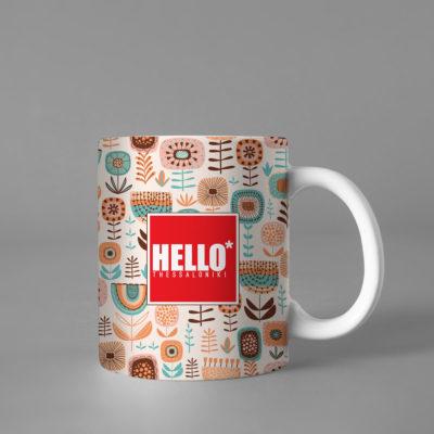 Hello Decorative Colorful Coffee Mug, 2019-035