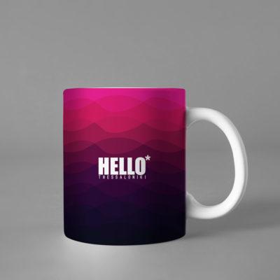 Hello Decorative Colorful Coffee Mug, 2019-036