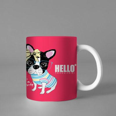 Hello Decorative Colorful Coffee Mug, 2019-037