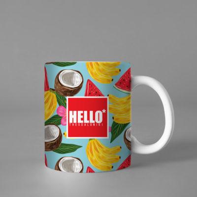 Hello Decorative Colorful Coffee Mug, 2019-038