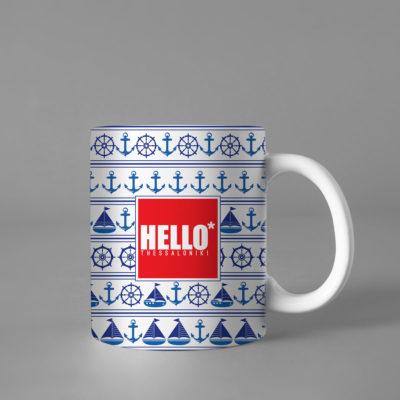 Hello Decorative Colorful Coffee Mug, 2019-039