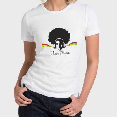 Hello T-Shirt Design 2020-2066, I Love Music