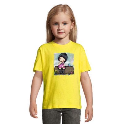Tshirt for girls, Gorjiuss Sitting On Bench 0003