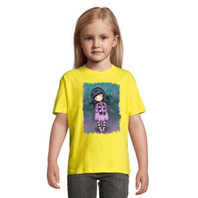 Tshirt for girls, Gorjiuss Listening Music 0008