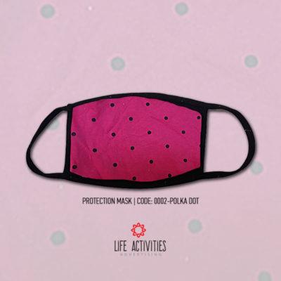 Μάσκα Προστασίας Υφασμάτινη Πουά - 0002-Polka Dot
