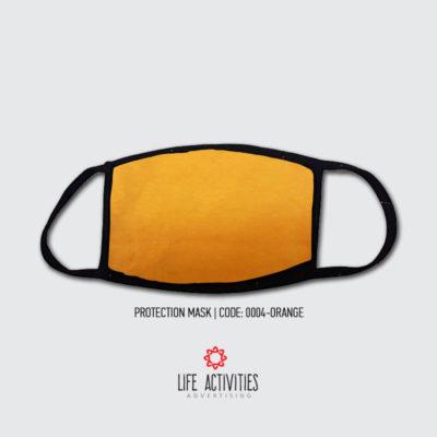 Μάσκα Προστασίας Υφασμάτινη Πορτοκαλί- 0004-Orange